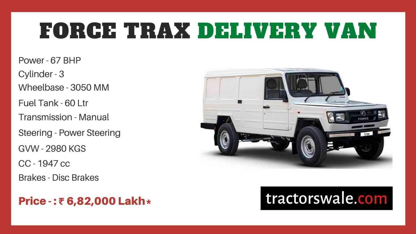 Force Trax Delivery Van price