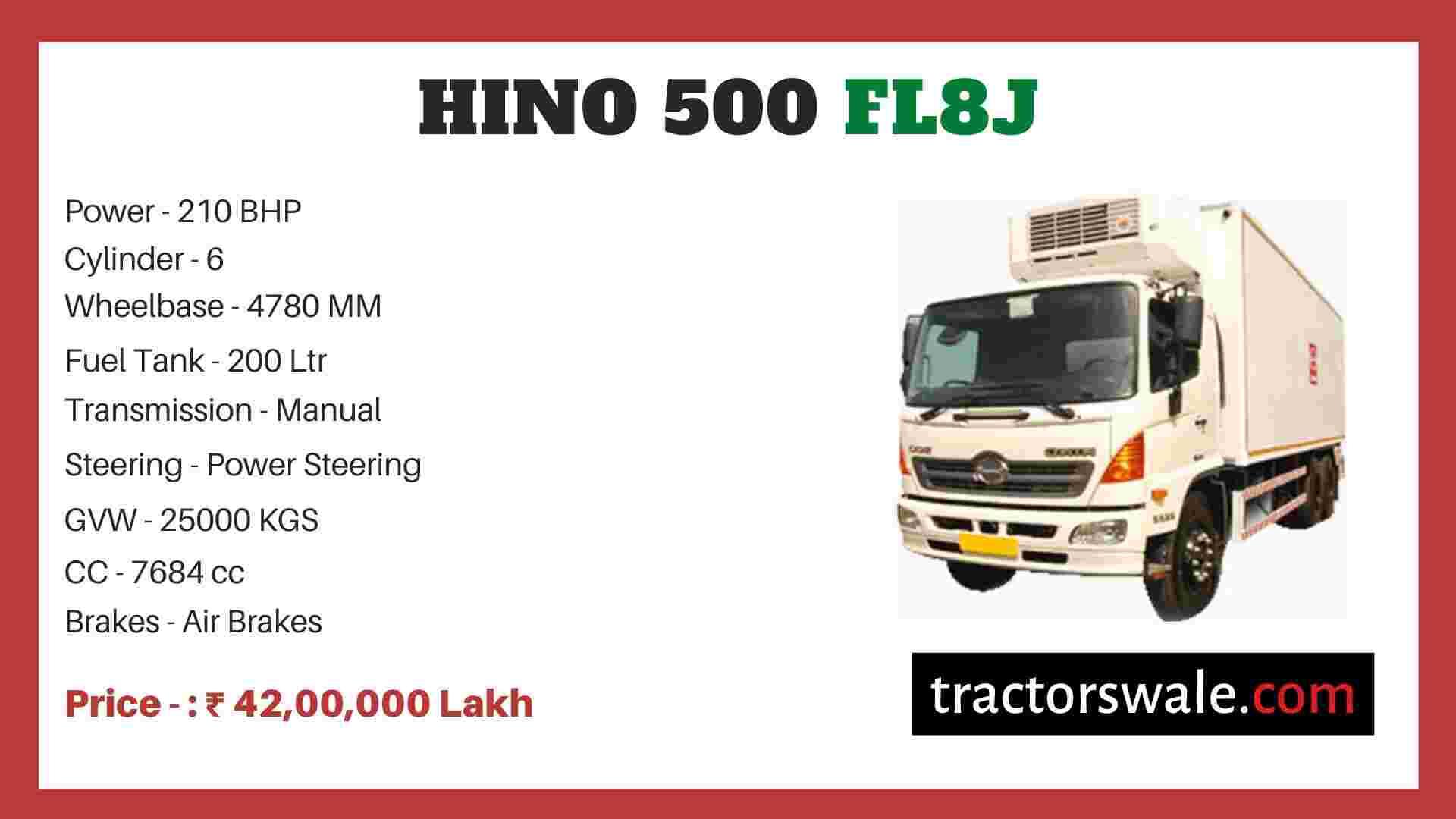 Hino 500 FL8J price