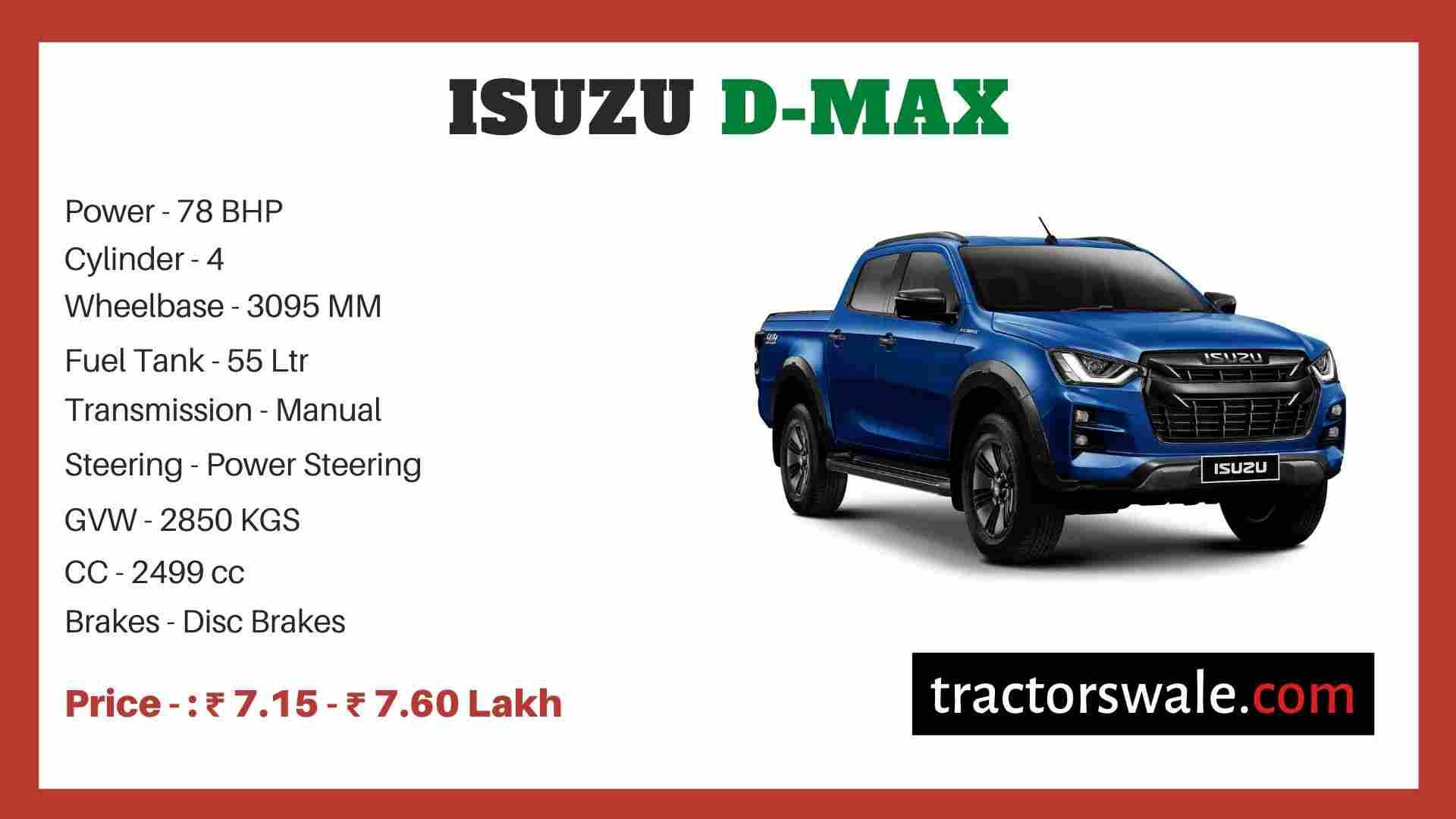 Isuzu D-MAX price