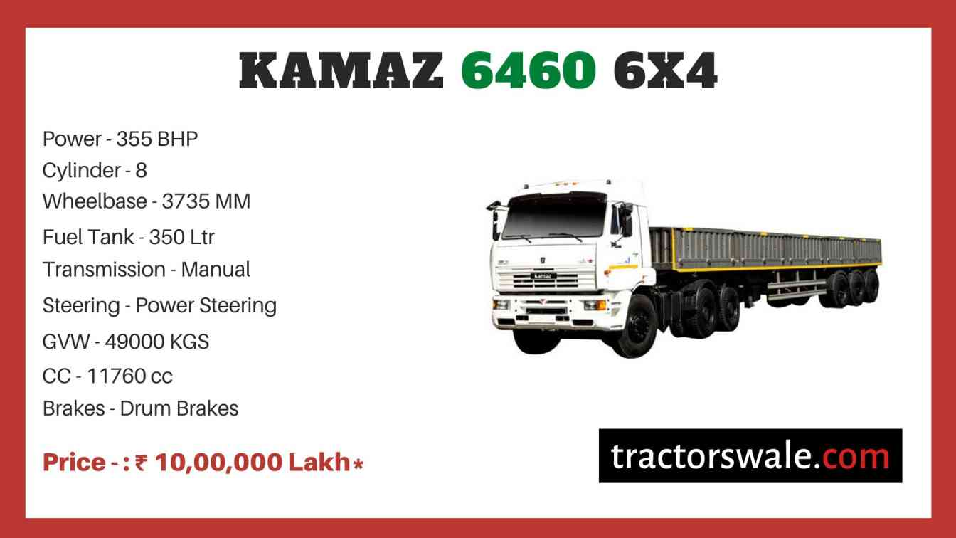 Kamaz 6460 6x4 price