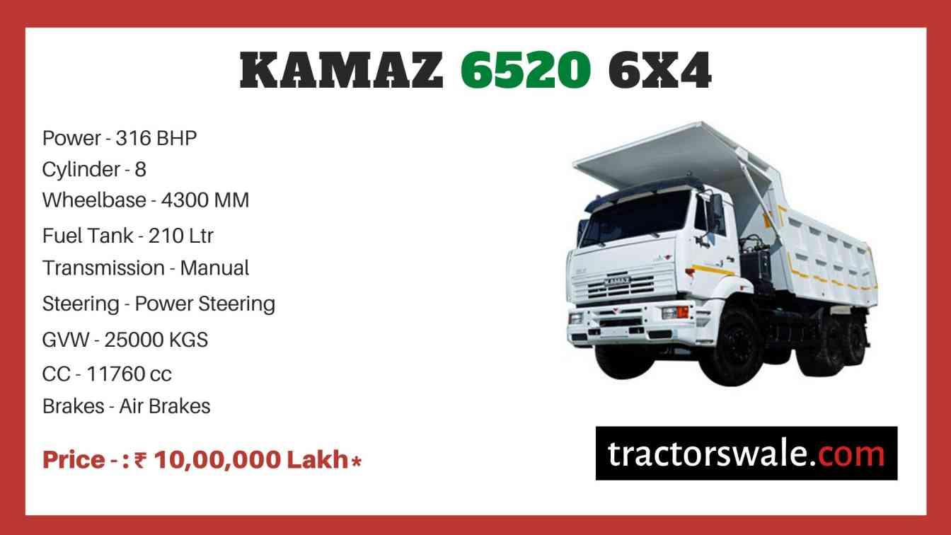 Kamaz 6520 6x4 price