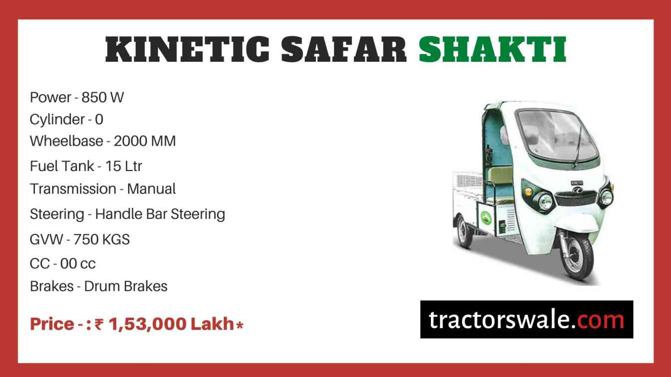 Kinetic Safar Shakti price