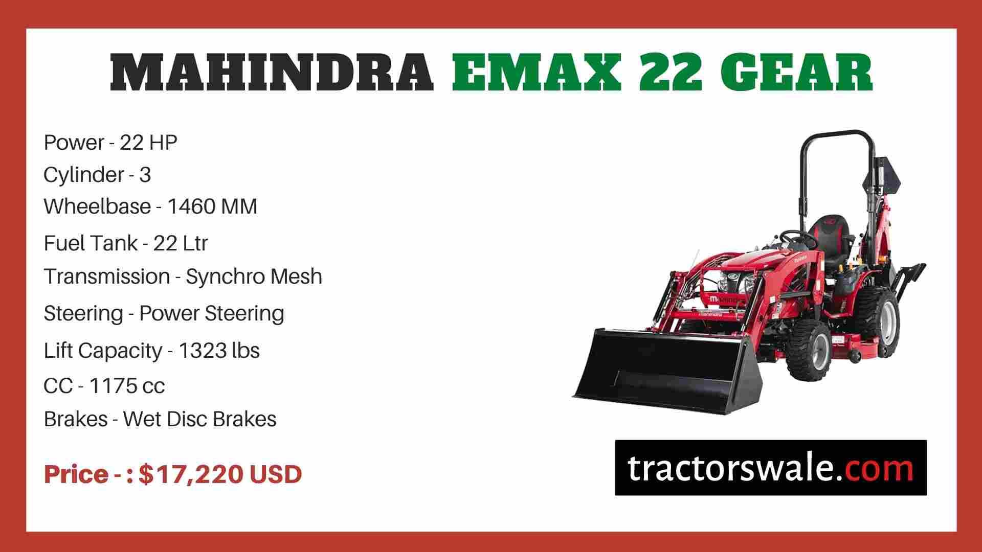 Mahindra Emax 22 Gear price