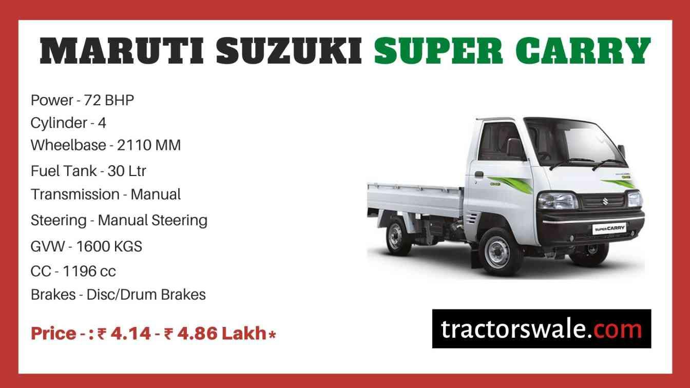 Maruti Suzuki Super CarryS price