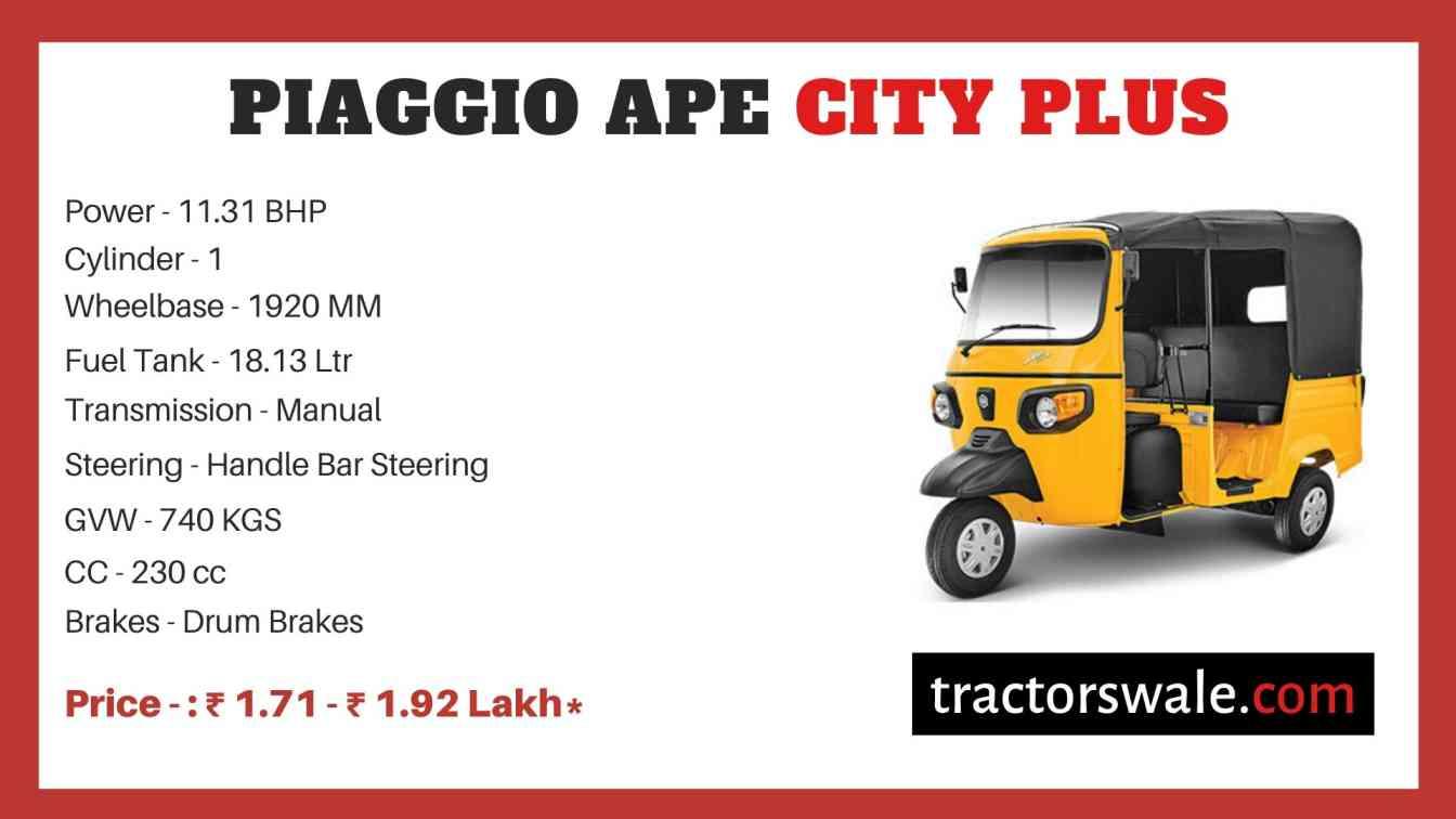 Piaggio Ape City Plus price