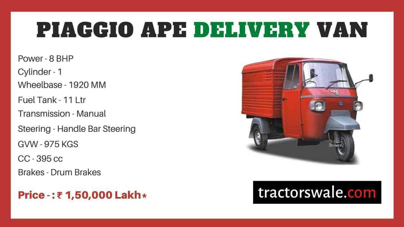Piaggio Ape Delivery Van price