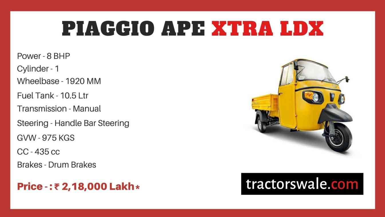 Piaggio Ape Xtra LDX price