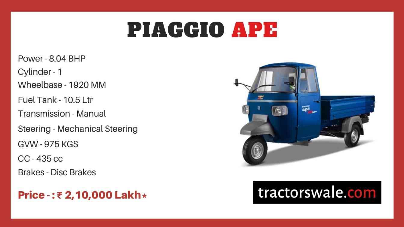 Piaggio Ape price