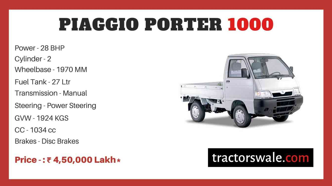Piaggio Porter 1000 price
