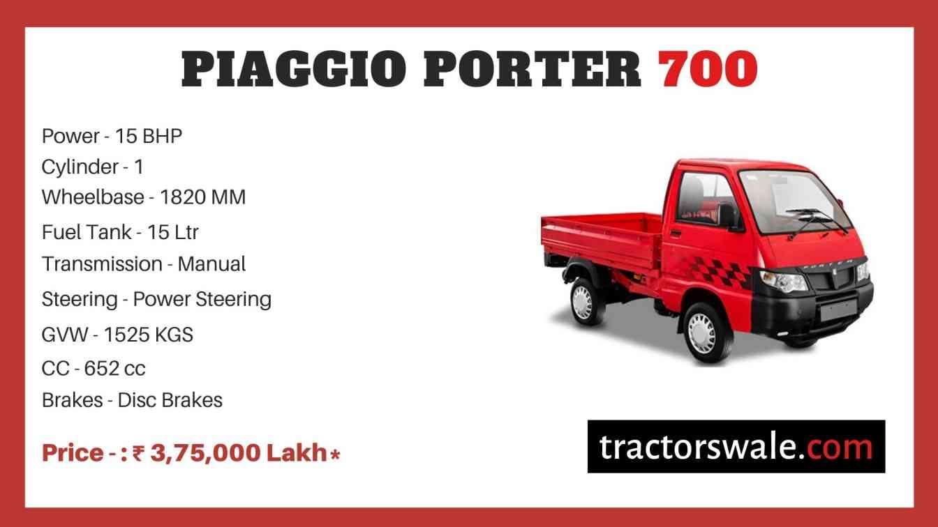 Piaggio Porter 700 price