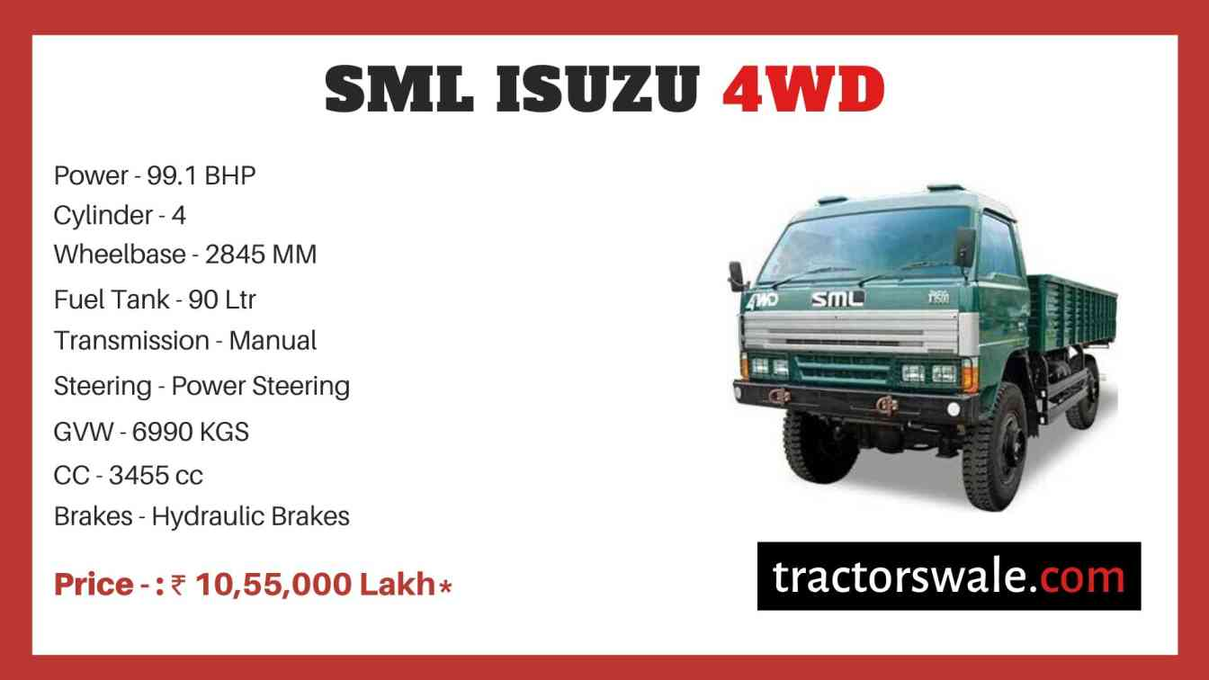 SML Isuzu 4WD price
