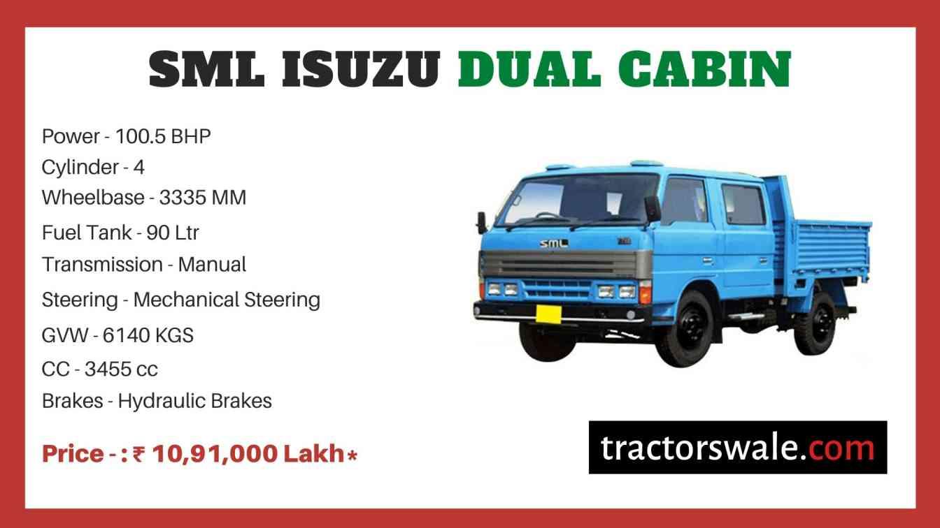 SML Isuzu Dual Cabin BS-IV price