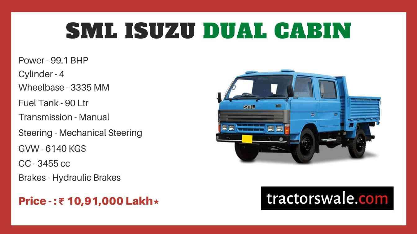 SML Isuzu Dual Cabin price