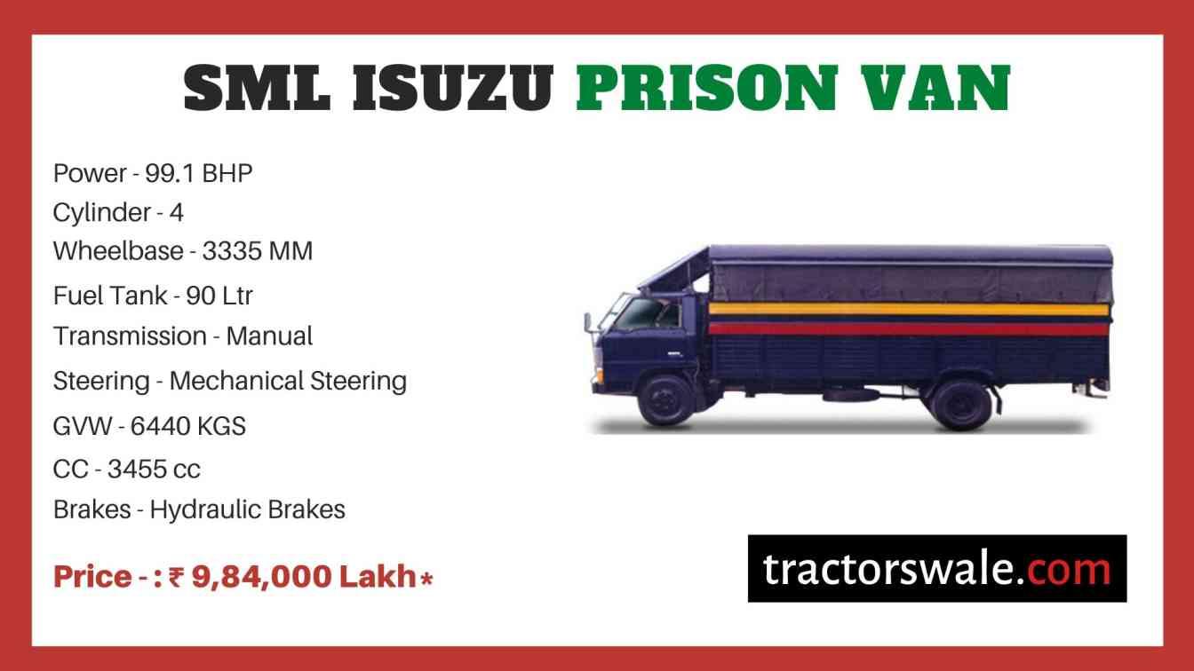 SML Isuzu Prison Van BS-IV price