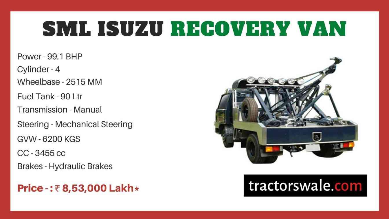 SML Isuzu Recovery Van BS-IV price