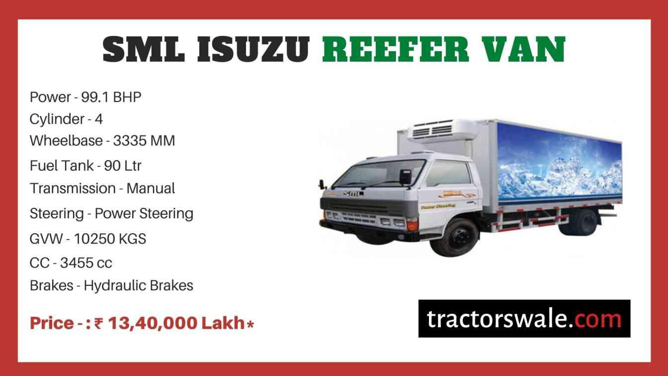 SML Isuzu Reefer Van BS-IV price