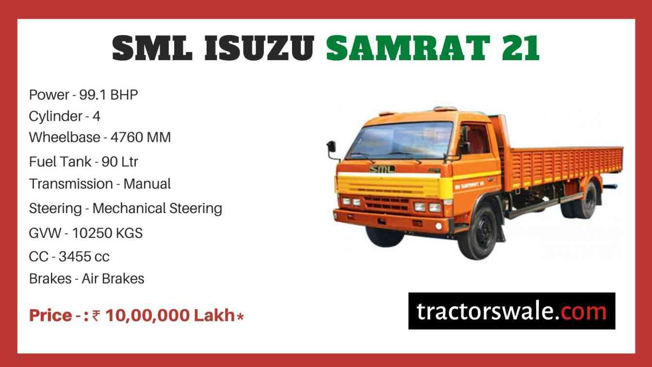 SML Isuzu Samrat 21 BS-IV price