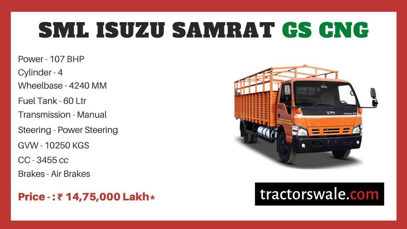 SML Isuzu Samrat GS CNG price