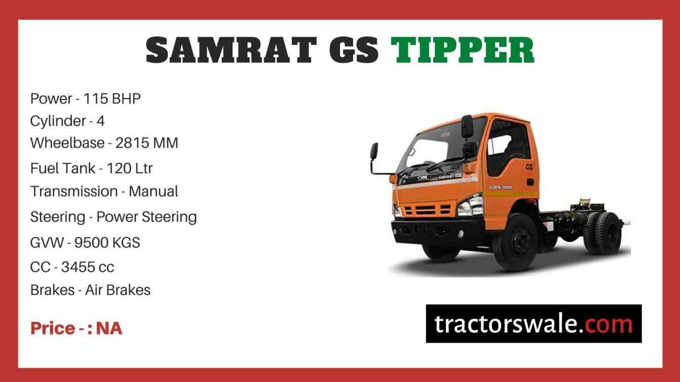 SML Isuzu Samrat GS Tipper price