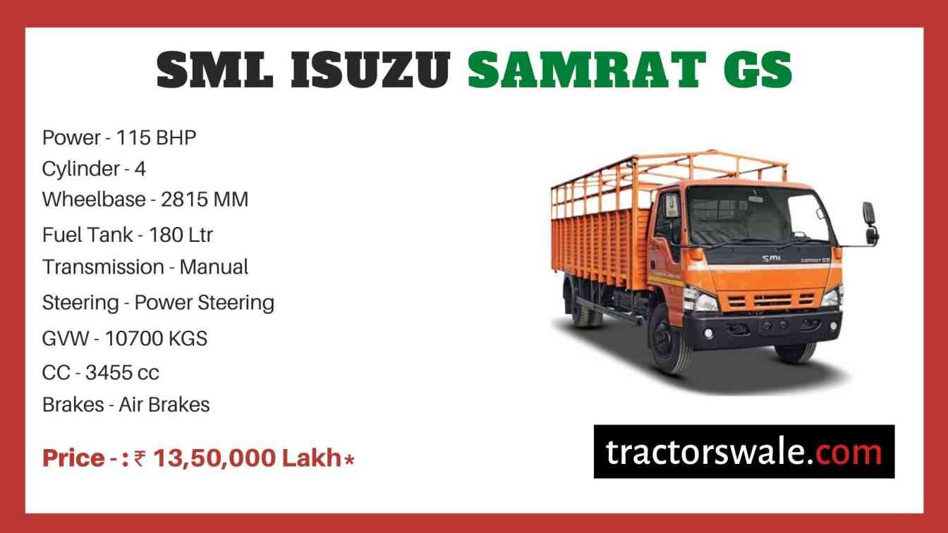 SML Isuzu Samrat GS price