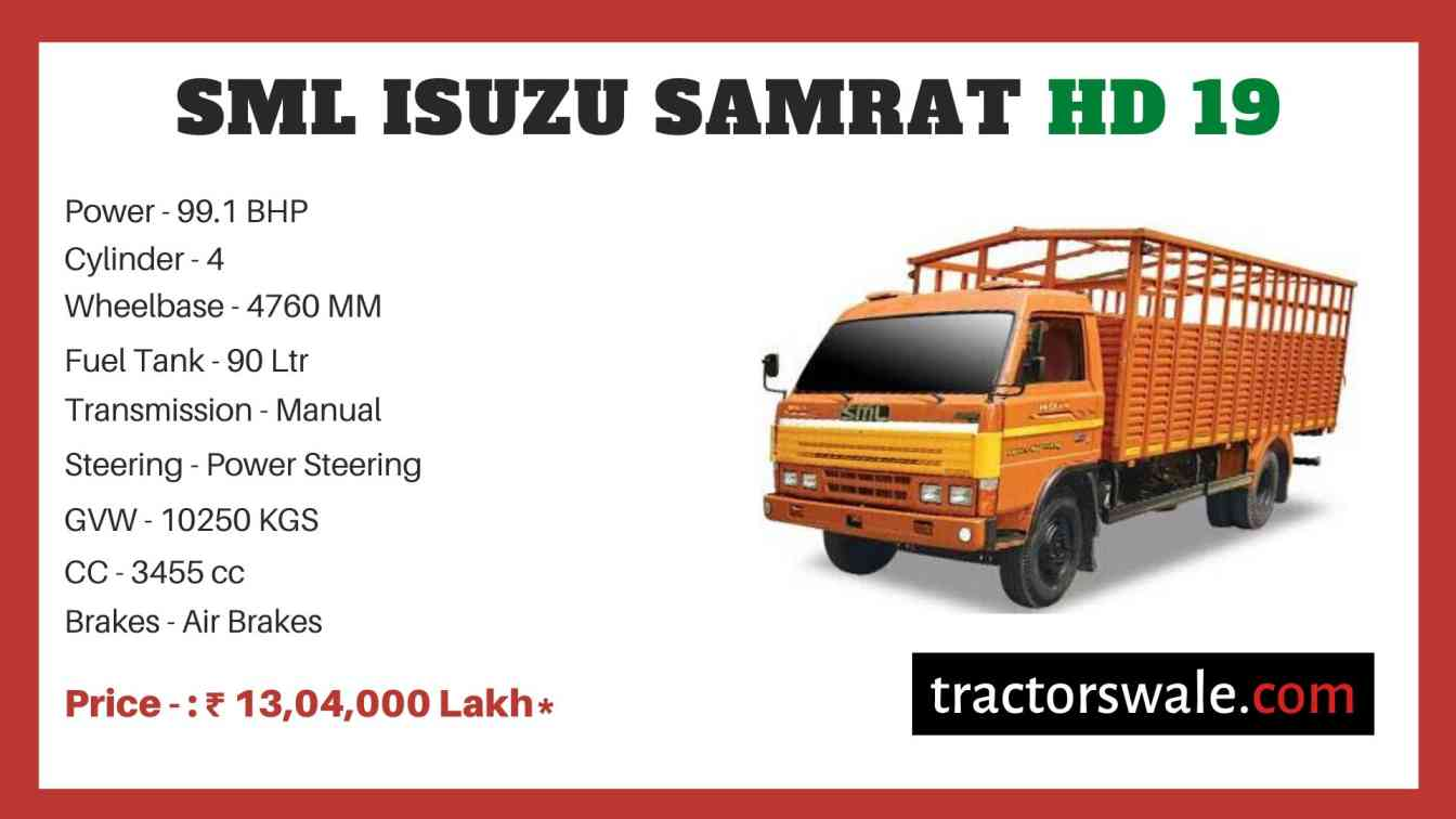 SML Isuzu Samrat HD 19 price