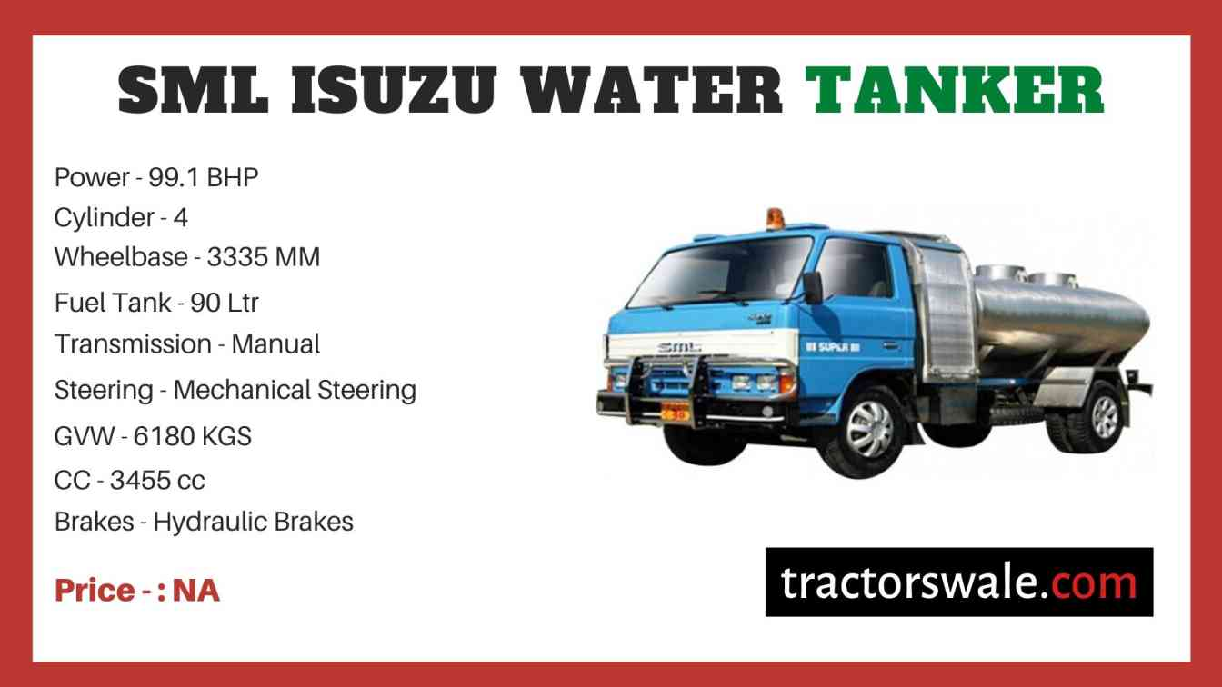 SML Isuzu Water Tanker price