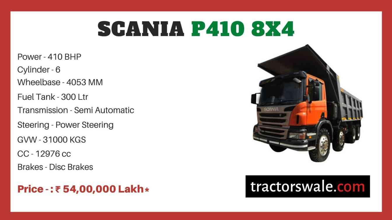 Scania P410 8x4 price