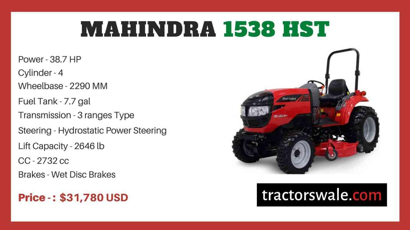 Mahindra 1538 HST price