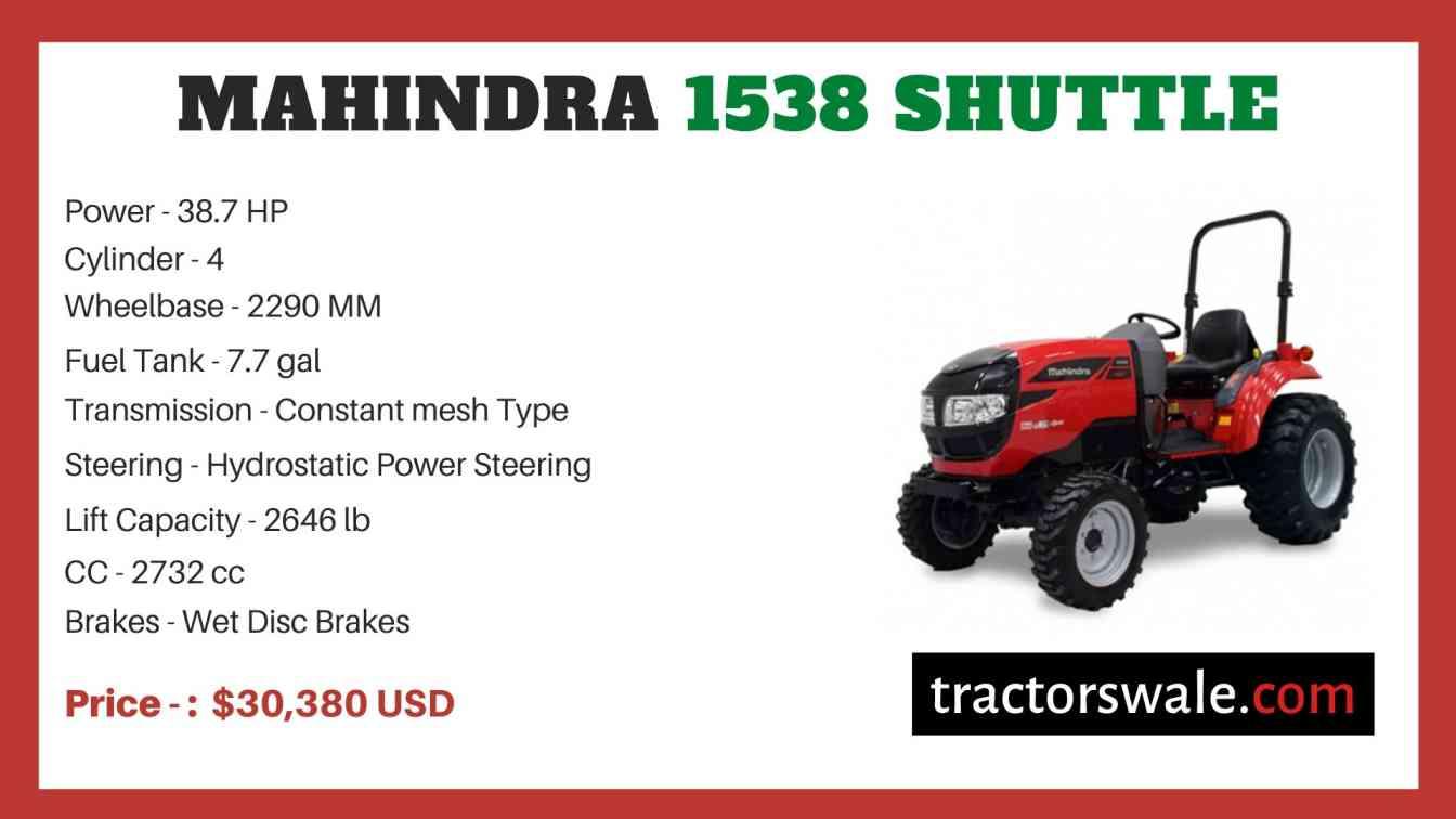 Mahindra 1538 Shuttle price