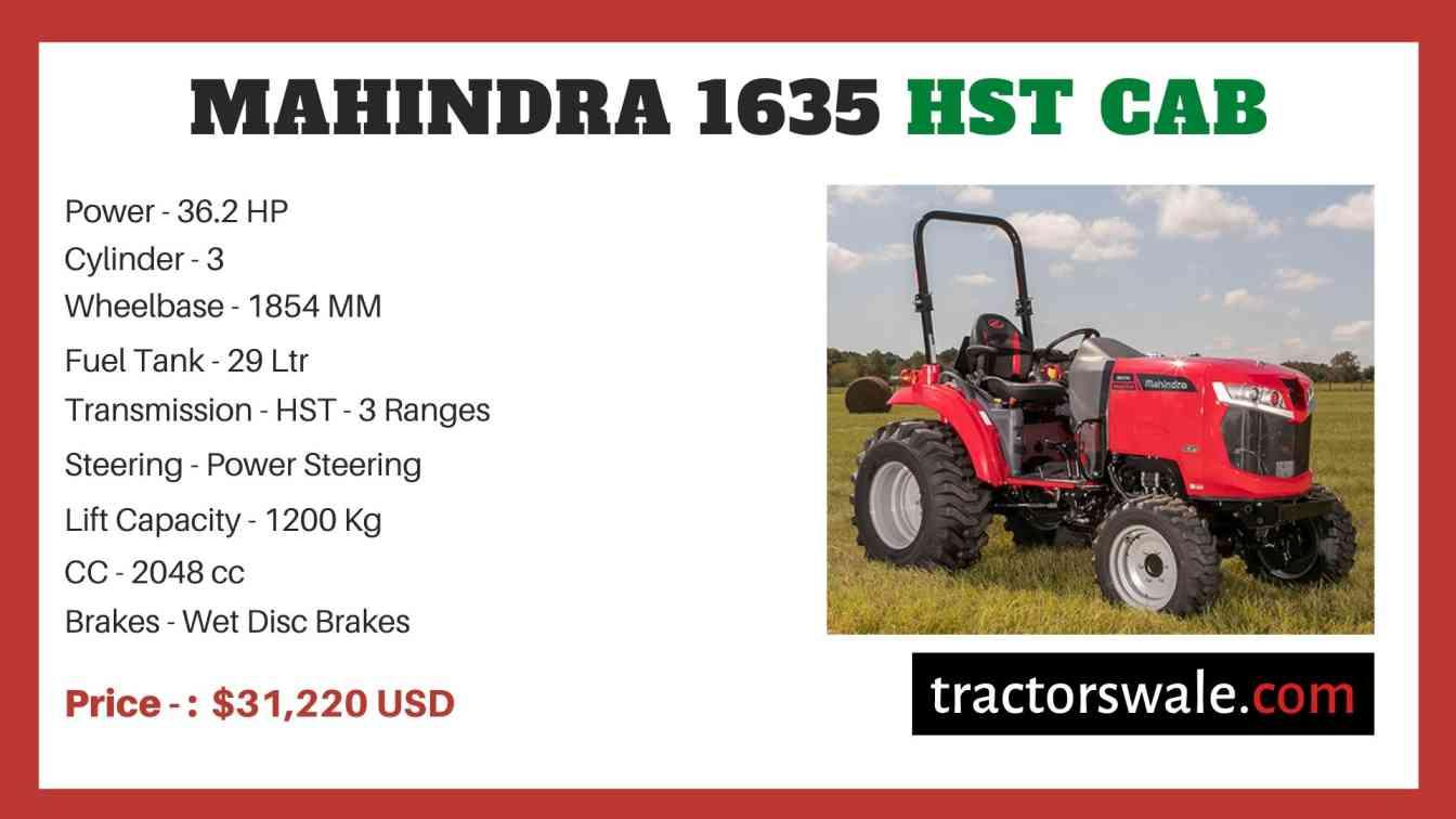 Mahindra 1635 HST CAB price