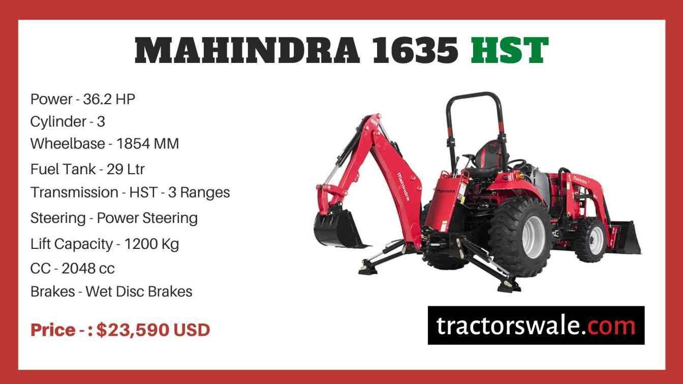 Mahindra 1635 HST price