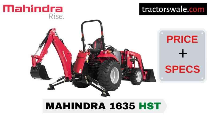 Mahindra 1635 HST Tractor Price, Specs, Mileage | 2020
