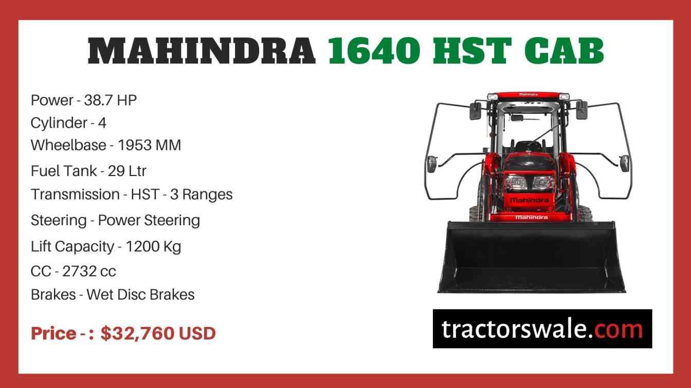 Mahindra 1640 HST CAB price