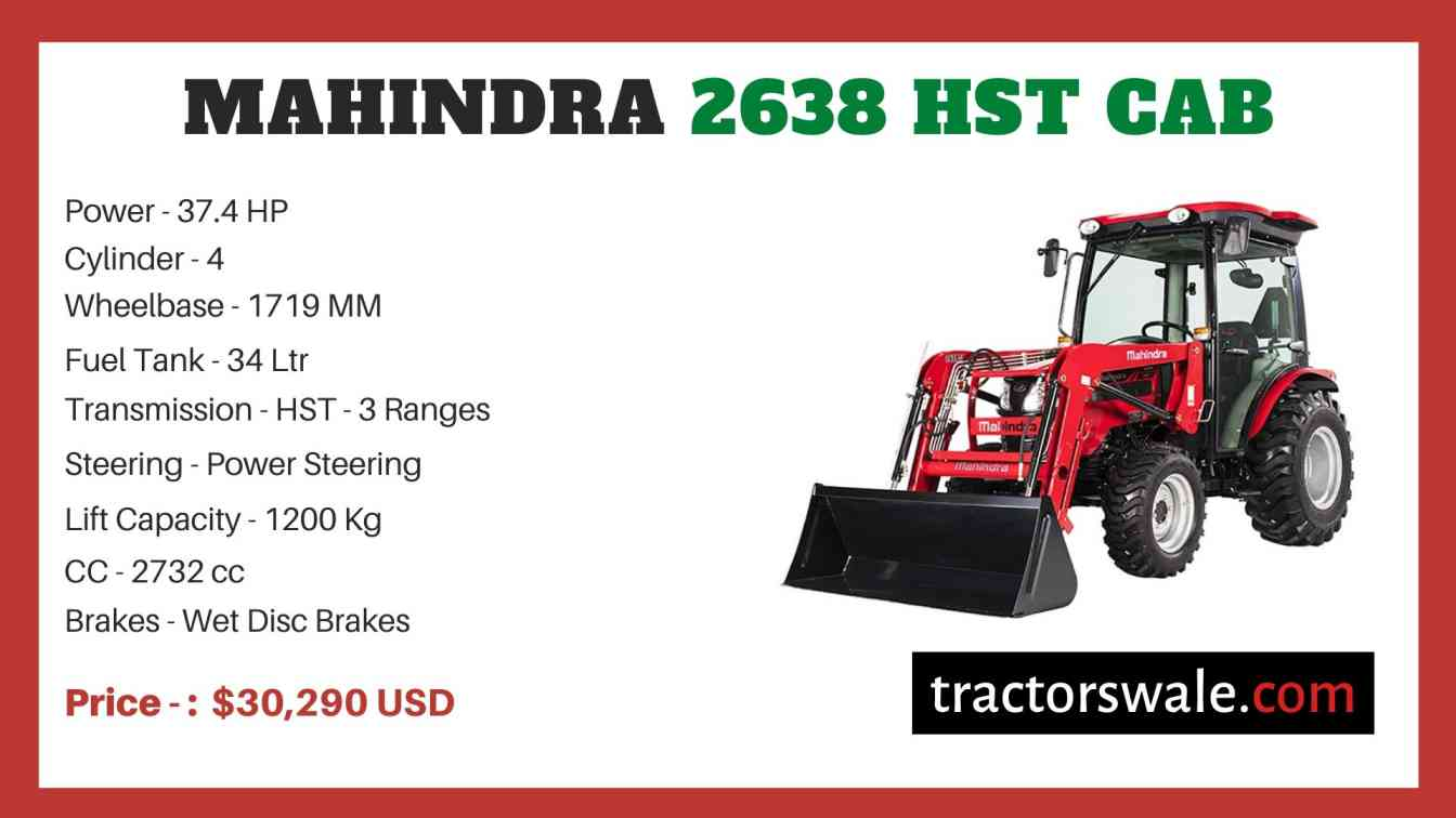 Mahindra 2638 HST CAB price