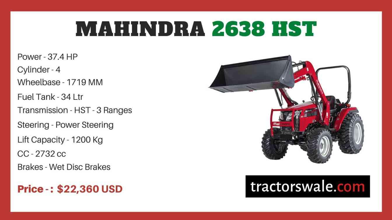 Mahindra 2638 HST price