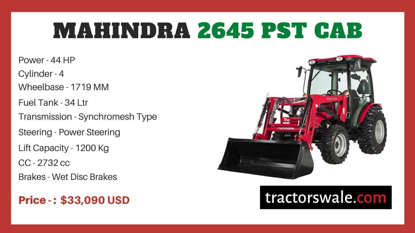 Mahindra 2645 PST CAB price