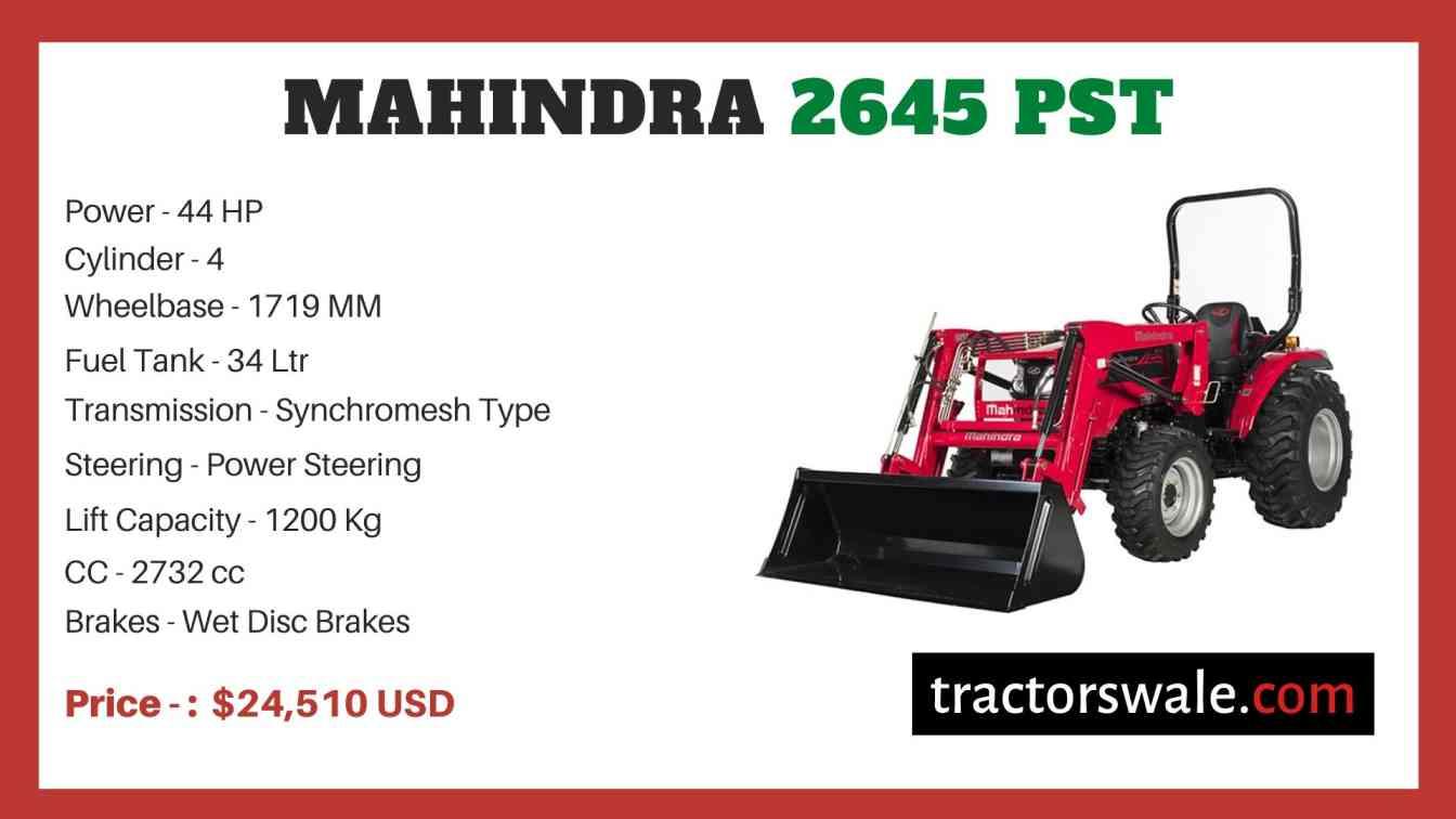 Mahindra 2645 PST price