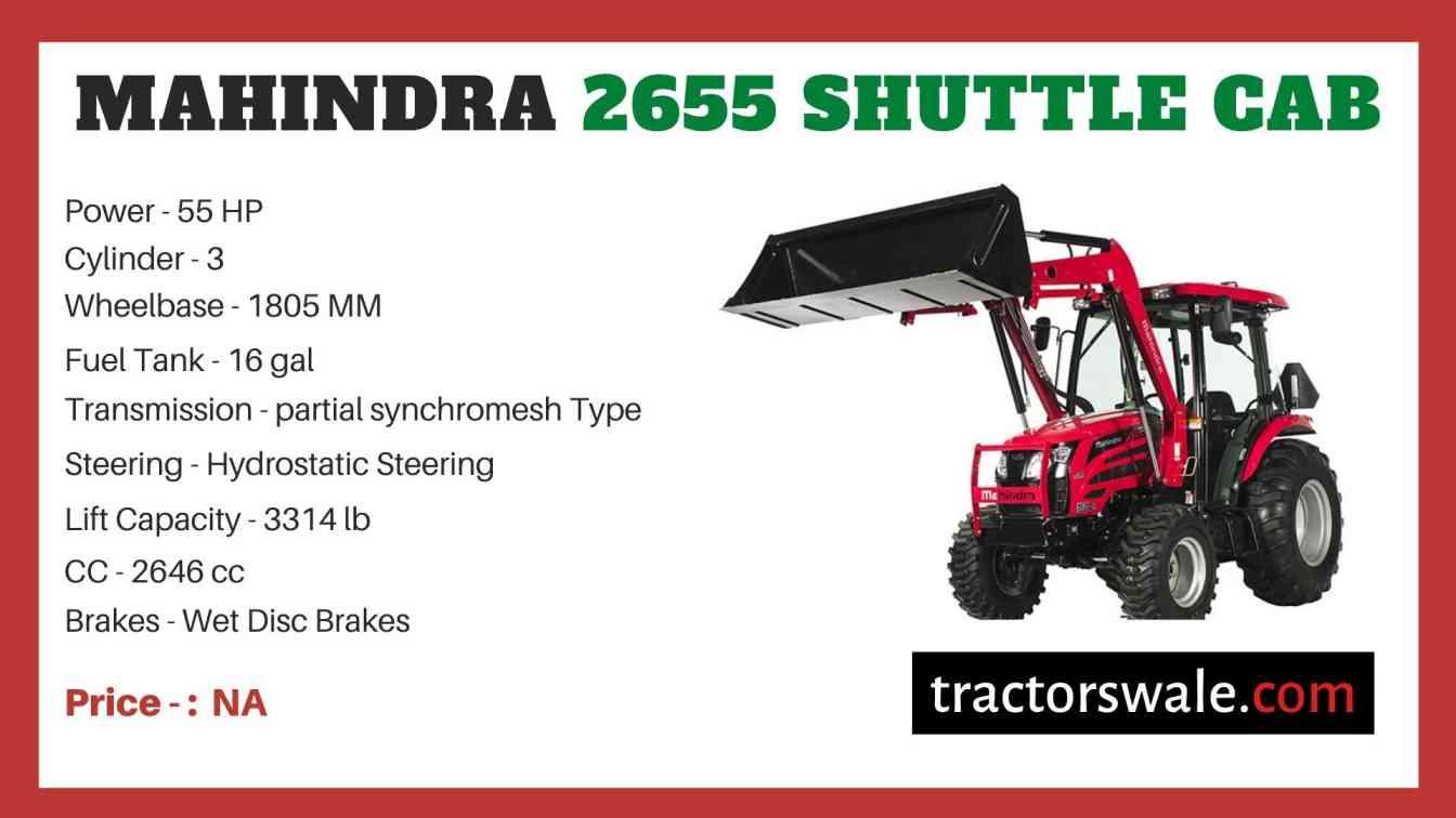 Mahindra 2655 Shuttle CAB price