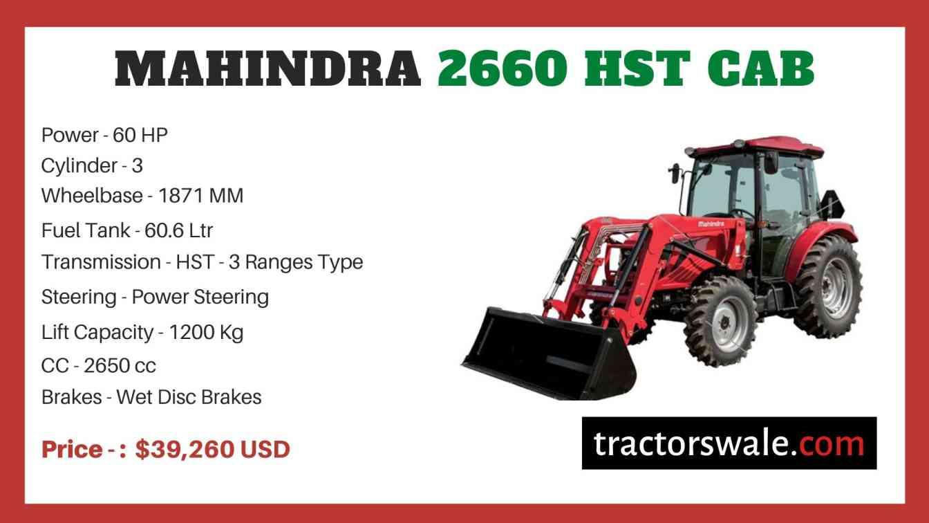 Mahindra 2660 HST CAB price