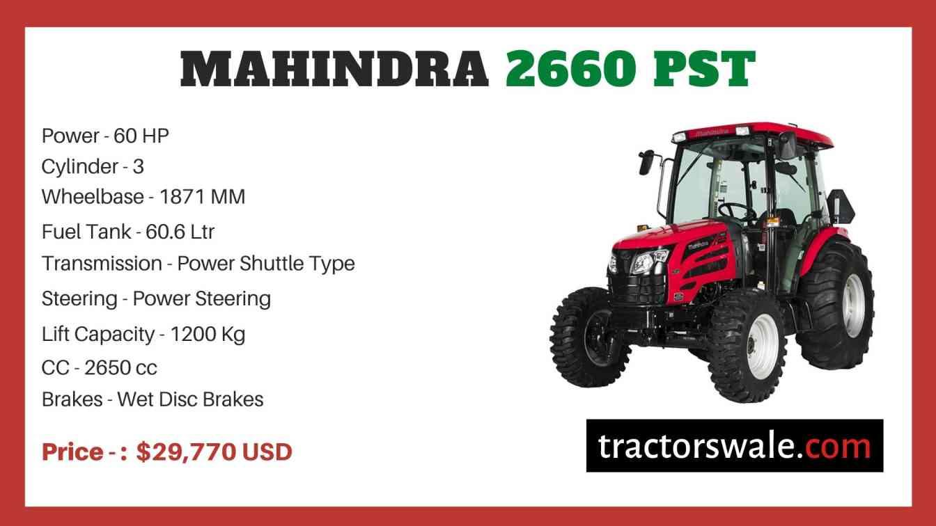 Mahindra 2660 PST price
