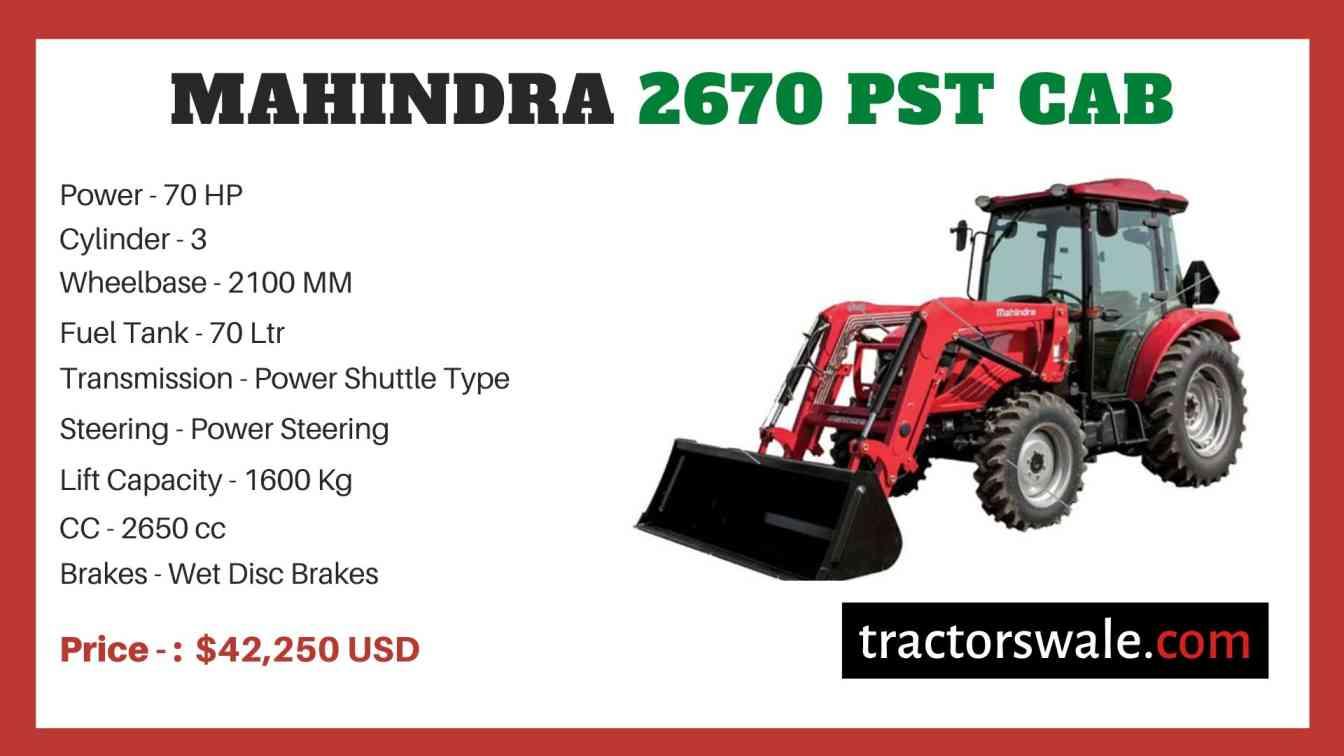 Mahindra 2670 PST CAB price