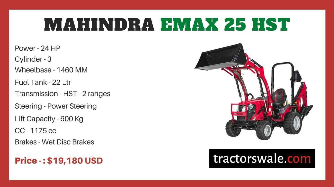 Mahindra Emax 25 HST price