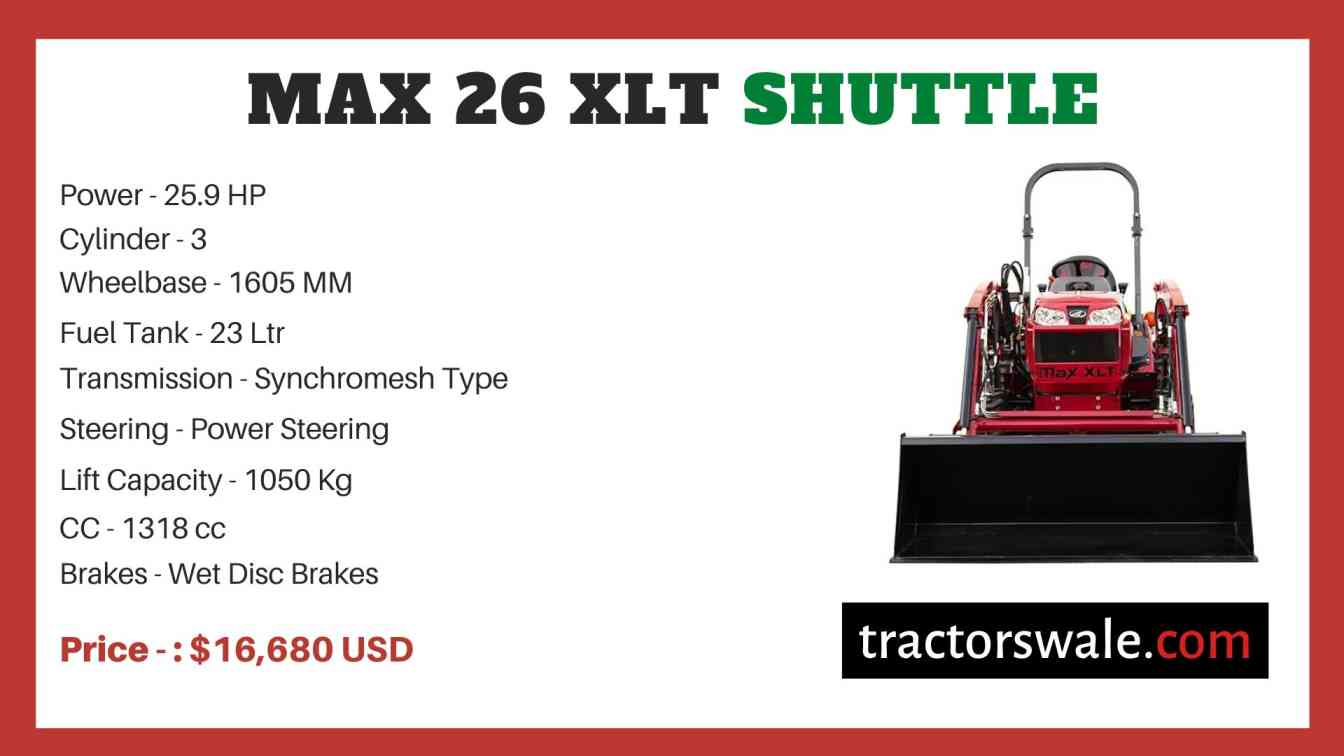 Mahindra Max 26 XLT Shuttle price