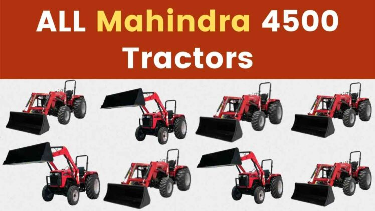 All Mahindra 4500 Tractor Price Mileage Specs Overview 2020