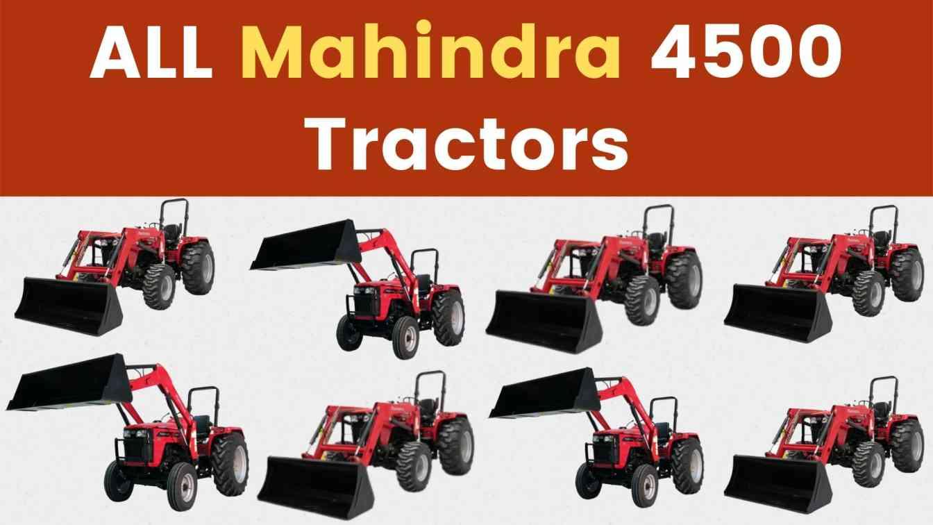 All Mahindra 4500 Tractor Price