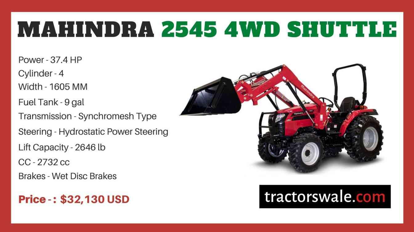 Mahindra 2545 4WD SHUTTLE price