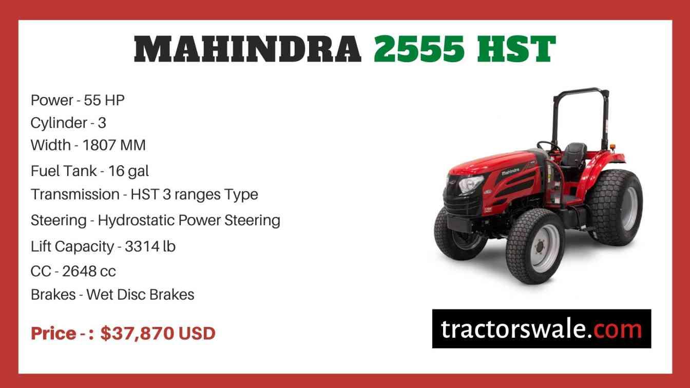 Mahindra 2555 HST price
