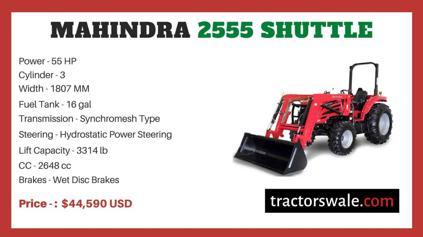 Mahindra 2555 SHUTTLE price