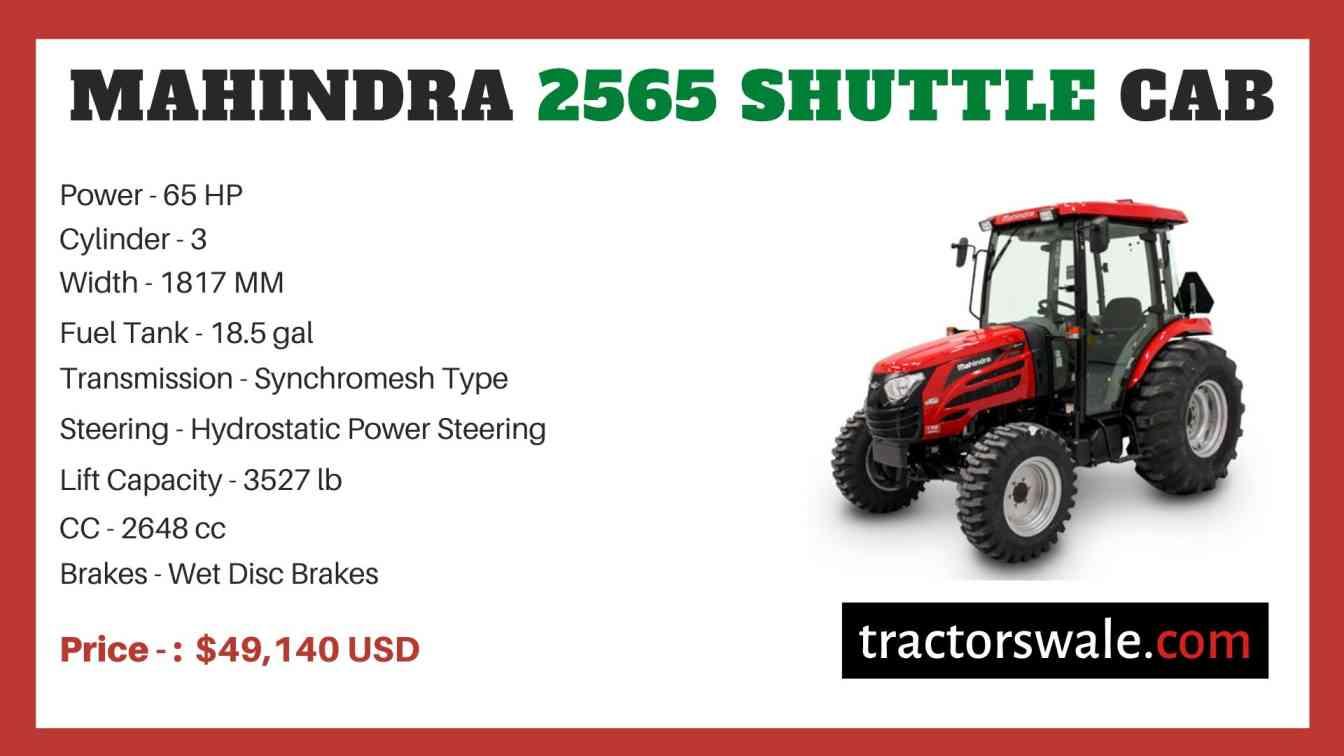 Mahindra 2565 SHUTTLE CAB price