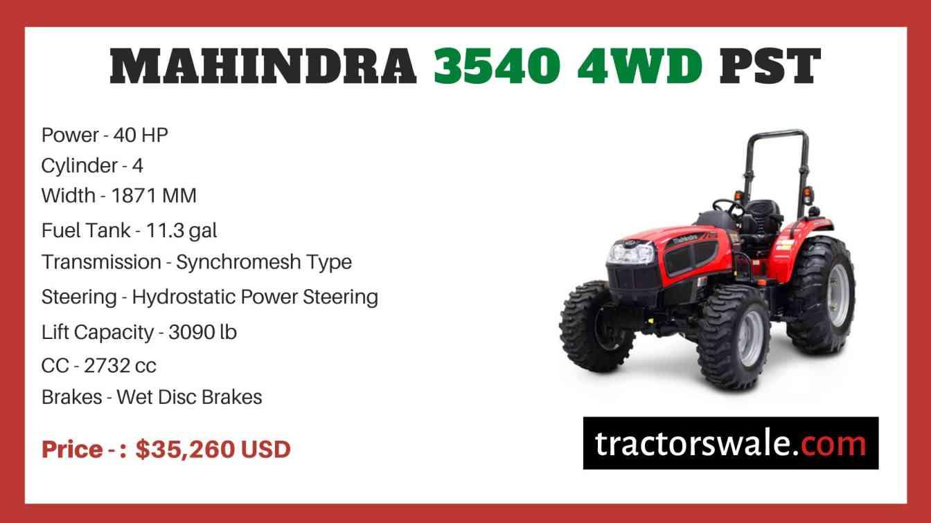 Mahindra 3540 4WD PST price